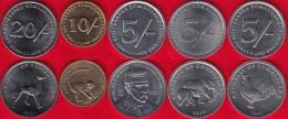 Somaliland Set Of 5 Coins: 5 - 20 Shillings 2002-2005 UNC - Somalia