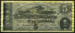 """$5 Confederate States Of America 1864 """"REPLICA"""" - Confederate Currency (1861-1864)"""