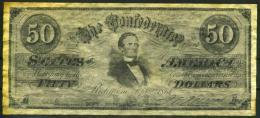 """$50 Confederate States Of America 1861 """"REPLICA"""" - Confederate Currency (1861-1864)"""