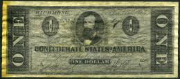"""$1 Confederate States Of America 1864 """"REPLICA"""" - Confederate Currency (1861-1864)"""