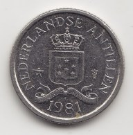 @Y@    Nederlandse Antillen   10 Cent  1981      (3456) - Nederlandse Antillen