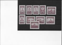 Reklamemarke Werbemarke Vignette, 10 Stück Aschersleben Briefmarkenausst.1933 ! - Deutschland
