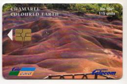 MAURICE Ref MV Cards MAU-56A  115 U AU VERSO LOGO TELECARD DATE 2003 - Mauritius