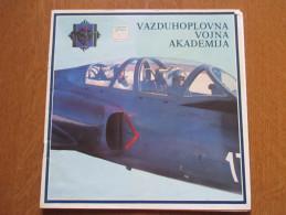 Brosura-Vazduhoplovna Vojna Akademija,Jugoslavija/Brochure-Military Aviation Academy,Yugoslav 1984. - Aviation