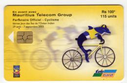 MAURICE Ref MV Cards MAU-59  115 U Jeux Ocean Indien Cyclisme Date 2003 - Mauritius
