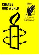 Australia 2011 Maxicard Scott #3542 60c Amnesty International 50 Years First Day Issue - Cartoline Maximum