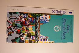 Petit Plan De Paris RATP NOVEMBRE 1995 - Cartes