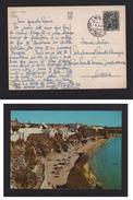 PORTUGAL Cachet Postmark AUTOAMB. AUTOMAB AMBULANCIA POSTAL LISBOA SINTRA CASCAIS Year 1969 - POSTCARD ALBUFEIRA ALGARVE - Variétés Et Curiosités