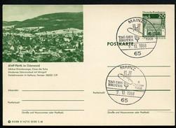 TAG DES BROTES MAINZ 1968 Auf Bild-Postkarte Bund P96 B14/110 Fürth Odenwald - Ernährung