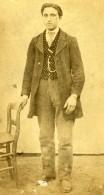 France Jeune Homme De La Campagne En Habits Du Dimanche Ancienne Photo CDV 1860 - Photographs