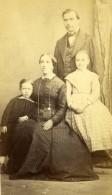 France Portrait De Famille Groupe Ancienne Photo CDV 1860 - Photos