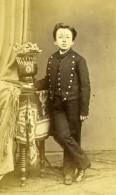 France Ecolier En Bel Uniforme Mode Second Empire Ancienne Photo CDV 1860 - Photos