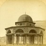 Israel Palestine Jerusalem Mosquee Omar Siege Du Jugement De David Ancienne Photo Stereo 1875 - Stereoscopic