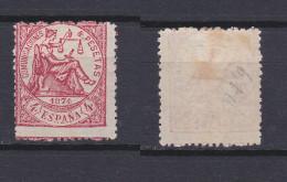 SPAIN 1874 Justice 4 Pta Rose Mint * 209 (Mi.143) - 1873-74 Reggenza
