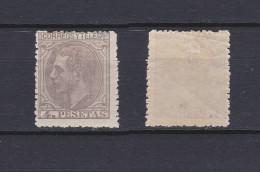 SPAIN 1879 King Alfonso XII 4 Pta Lilac Grey Mint * 250 (Mi.185) - Nuovi
