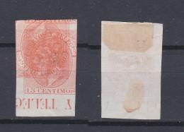 SPAIN 1882 King Alfonso XII 15C Red Orange Mint (*) 252 (Mi.186) - Nuovi