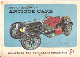 1966 Calendar Of Antique Cars  Picken Service Station, Richmond, Quebec - Calendars