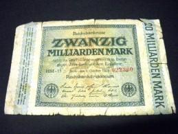 ALLEMAGNE 20 Millards De Mark 01/10/1923,pick N° 118 A, GERMANY Inflation - [ 3] 1918-1933 : República De Weimar
