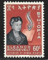 Ethiopia, Scott # 426 Unused No Gum Eleanor Roosevelt, 1964 - Ethiopia