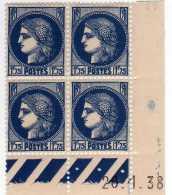 500  -   N°  372 / 76 **  Série  Type  Cérès     SUP. - Coins Datés