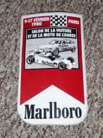 Rare Sticker Autocollant MARLBORO Salon De La Voiture Et Moto De Course, Paris 1980 - Autocollants