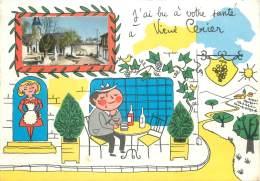 """CPSM FRANCE 16 """"Vieux Cérier, Vue"""". - France"""