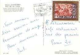 1969  Retable De StJean De Cazelles  0,30fr   Sur Carte Postale Pour Paris - Cartas
