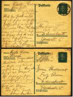 2 X Deutsches Reich Ganzsache / Postkarte  -  8 Pf Friedrich Ebert  -  1930 Gestempelt - Deutschland