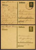 2 X Deutsches Reich Ganzsache / Postkarte 1929  -  8 Pf Friedrich Ebert Gestempelt - Paul Hindenburg Ungestempelt - Briefe U. Dokumente