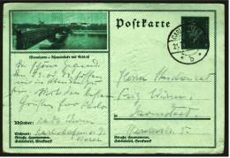 Deutsches Reich Ganzsache / Postkarte 1929  -  8 Pf Friedrich Ebert Gestempelt - Bild Mannheim - Storia Postale