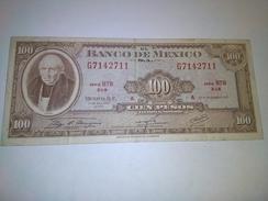 MEXICO 1972 100 PESOS P-61h BANKNOTE  LOC#A1131 - Mexiko