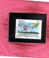 ITALIA REPUBBLICA ITALY REPUBLIC 1984 SALVAGUARDIA DELLA NATURA PROTECTION OF NATURE CORPO FORESTALE USATO USED OBLITERE - 1981-90: Oblitérés