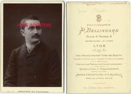Grand CDV (cab) Vers 1880  Famille Chatin-portrait De Jean-photo Bellingard Place Saint Pierre à Lyon - Photographs