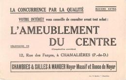 AMEUBLEMENT DU CENTRE - CHAMALIERES (PUY DE DÔME - 63) - BUVARD ANCIEN. - Buvards, Protège-cahiers Illustrés