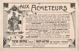 """NEW HOME"" - MACHINE à COUDRE  - BUVARD ILLUSTRE ANCIEN. - Carte Assorbenti"