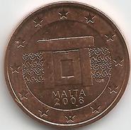 Malte 5 Cents 2008 Issue De Rouleau Neuf - Malta