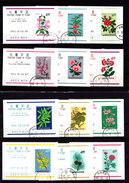 1965 - SOUTH KOREA - O/FINE CANCELLED - PLANTS & FLOWERS MINISHEETS - 12 VALUES  ( 1 IS **/MNH AND 11 FINE CANCELLED) - Korea, South