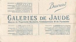PAPETERIE SCOLAIRE, COMMERCIALE & De FANTAISIE - GALLERIES DE JAUDE - CLERMONT-FERRAND (PUY DE DÔME - 63) - BUVARD ANCIE - Stationeries (flat Articles)