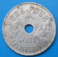 Picardie Somme 80 Flixecourt Prévoyance 1 Kilo De Pain INEDIT Alu 30mm - Monetary / Of Necessity