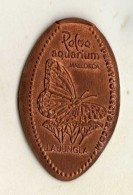 Token,Spain,Mallorca, Palma Aquarium,La Jungla,Papillons,butterflies.metal. - Espagne