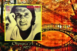 Carte Postale, Célébrites, Chanteurs, Belgium, Full Discography Adamo, 1971, Olympia´71 - Zangers En Musicus