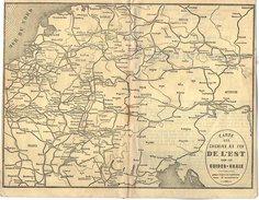 VP6060 - Carte Des Chemins De Fer De L'Est Pour Les Guides - CHAIX - Cartes