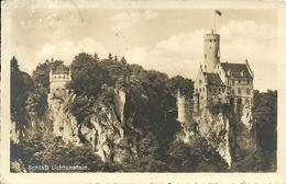 """Liechtenstein, Schloss, Castle, Chateau, Castello, Printed By """"Gasthof Und Pension Olgahohle - Honau"""" - Liechtenstein"""