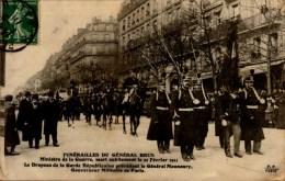 FUNERAILLES DU GENERAL BRUN..CPA ANIMEE - Funérailles