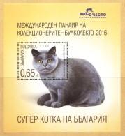 Lot BUL 1621SS - Bulgaria 2016  -  BRITISH SHORTHAIR CAT - S/S - Bulgarie