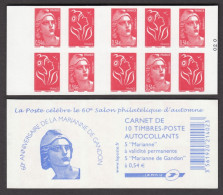 N° 1514 - X X -  Les Soixante Ans De La Marianne De Gandon ( F 710 ) - Carnets