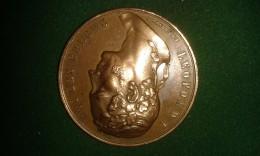 1850, F De Hondt, Oost-Vlaanderen, Exposition Provinciale, 42 Gram (med312) - Pièces écrasées (Elongated Coins)