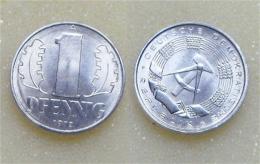 DDR 1 Pfennig 1972 - [ 6] 1949-1990 : RDA - Rép. Démo. Allemande