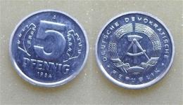 DDR 5 Pfennig 1984 - [ 6] 1949-1990 : RDA - Rép. Démo. Allemande