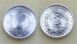 DDR 10 Pfennig 1989 - [ 6] 1949-1990 : RDA - Rép. Démo. Allemande